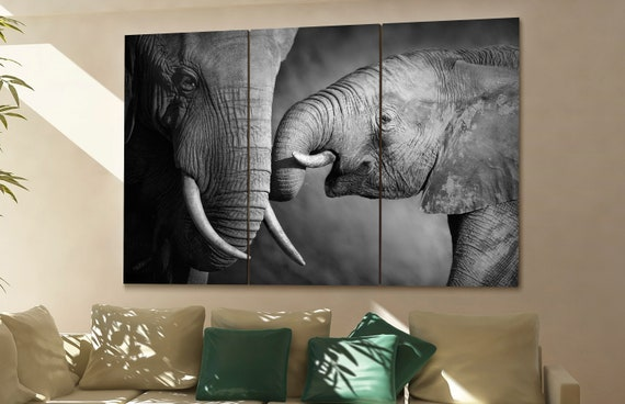 elephant wall art elephant canvas elephant canvas wall art elephant decor elephant wall decor elephant art elephant large wall art