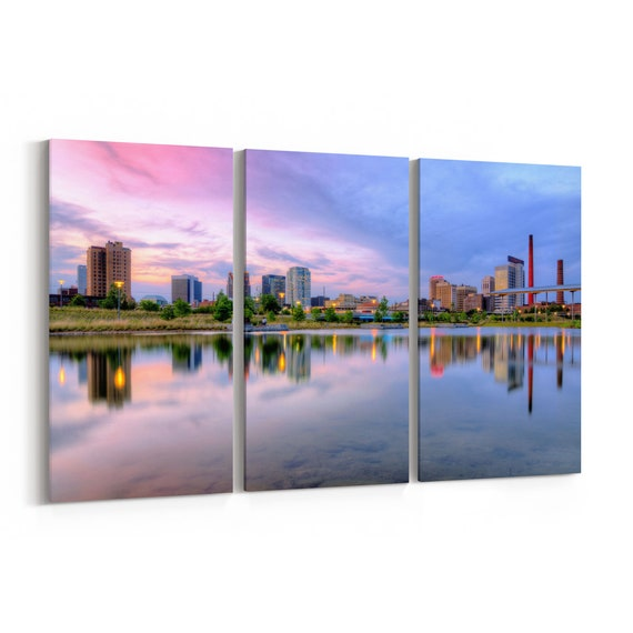 Birmingham Canvas Wall Art Birmingham Canvas Print Multiple Sizes Wrapped Canvas on Wooden Frame