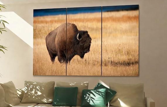 Bison wall art Bison canvas Bison canvas wall art Bison decor Bison wall decor Bison art Bison large wall art