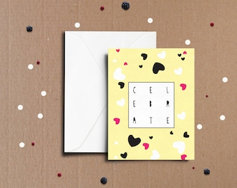Celebrate graphic greeting card