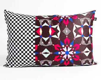 Rectangle cushion 40 x 60 cm Kalei pattern made in France and by hand