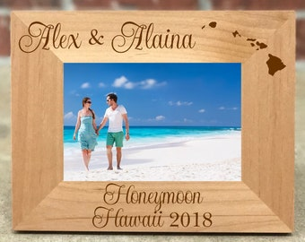 fcd5a177cb2 Personalized Hawaii Honeymoon Picture Frame