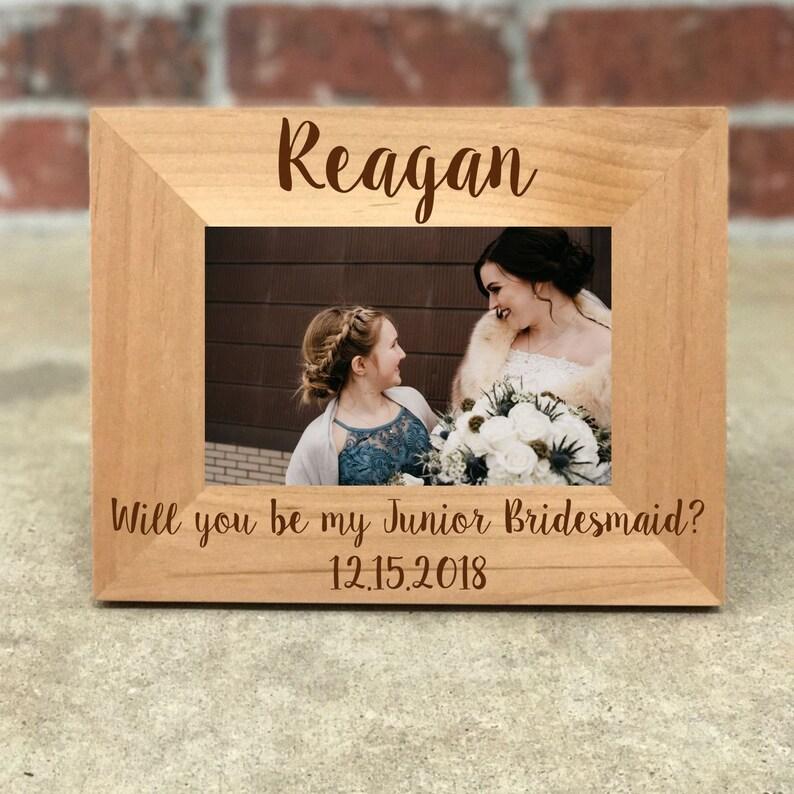 e6fcd5e2295 Personalized Junior Bridesmaid Picture Frame Wedding Gift