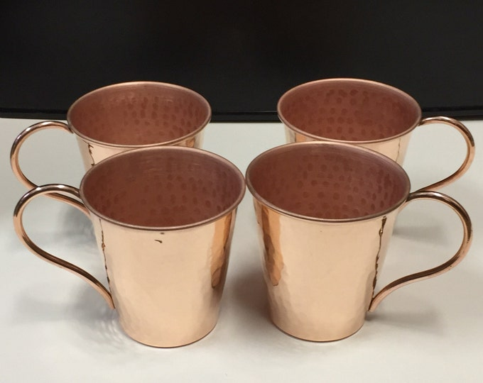 4-pack of 14oz Moscow Mule Hammered Copper Mug, tapered