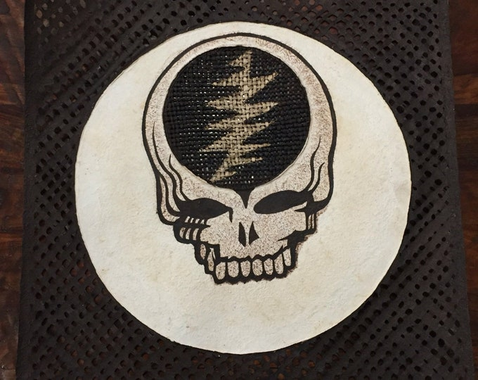 "Amate Bark Paper Wall Art with Steal Your Face Design (24"" x 24"")"