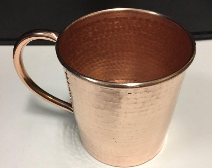 16oz Moscow Mule Copper Mug, hammered