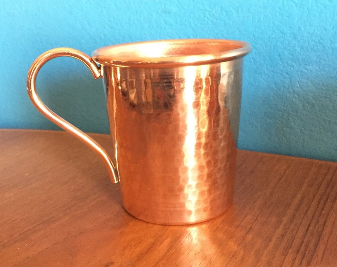 5oz Handcrafted Moscow Mule Pure Copper Hammered Tasting Mug