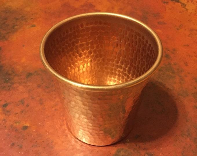 16oz Pure Hammered Copper Tumbler