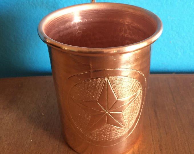 16oz Moscow Mule Hammered Copper Mug w/ Texas Star logo