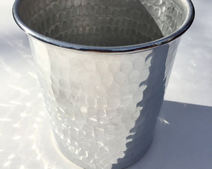 Handcrafted 15oz Hammered Aluminum Tumbler tapered