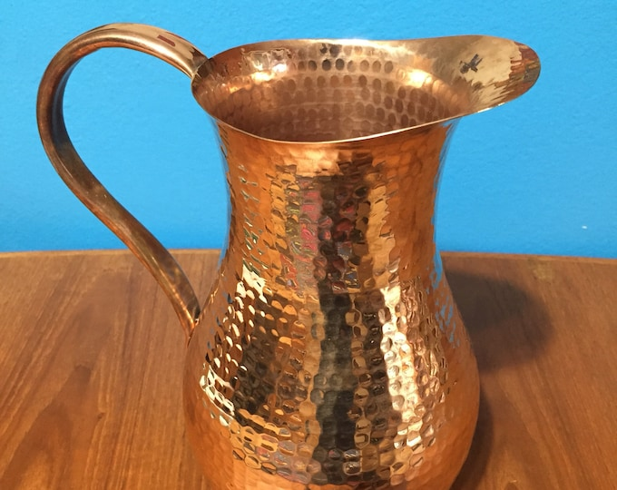 Pure Hammered Copper Pitcher - 2.5 Liters, 100% pure copper