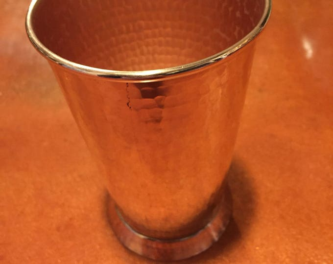 18oz Moscow Mule Hammered Copper Tumbler, tapered w/ pedestal base