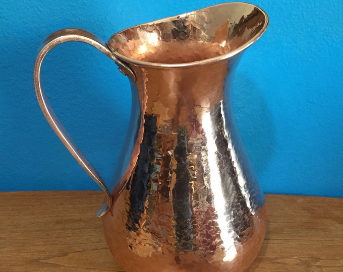 Pure Hammered Copper Pitcher - 2 Liters, 100% pure copper
