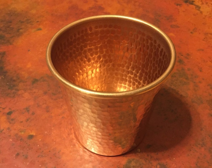 16oz Pure Hammered Copper Tumbler Water Cup