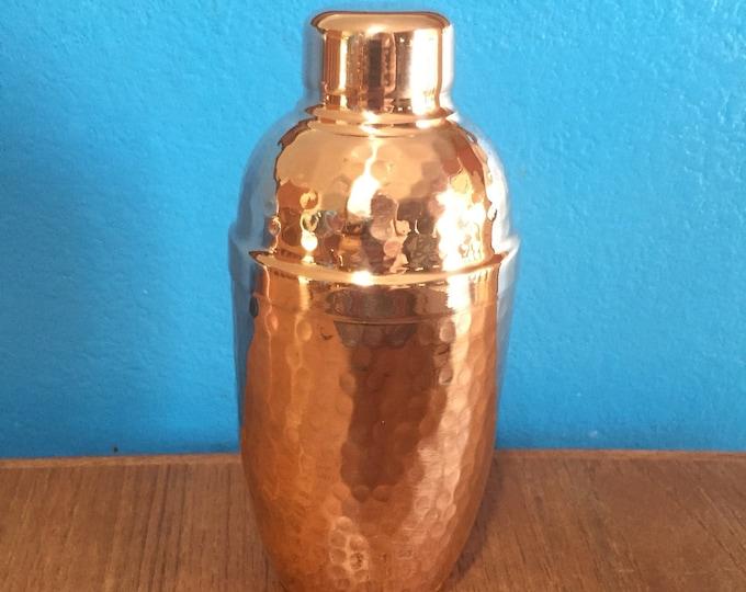 Pure Hammered Copper Cobbler Cocktail Shaker