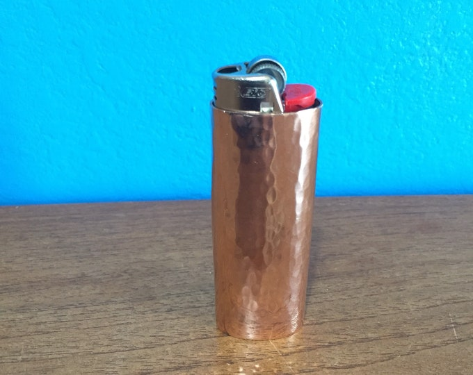 Handcrafted Pure Copper Lighter Cover with Light Hammered Texture