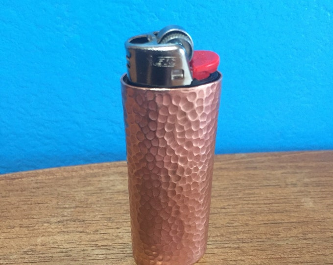 Handcrafted Pure Copper Lighter Cover with Hand Hammered Texture