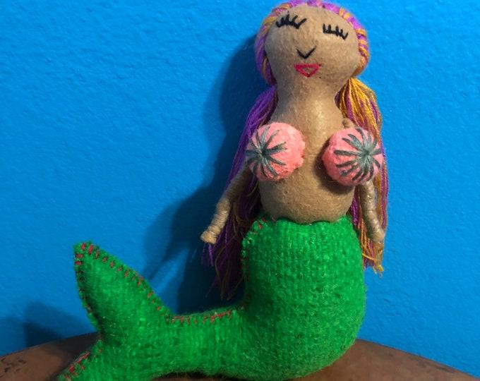 Hand Sewn Stuffed Animal Mermaid Plush Toy