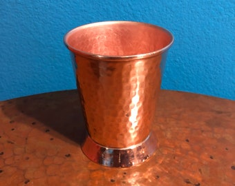 12oz Pure Hammered Copper Mint Julep Cup