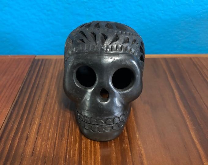 Barro Negro Black Clay Skull Calavera