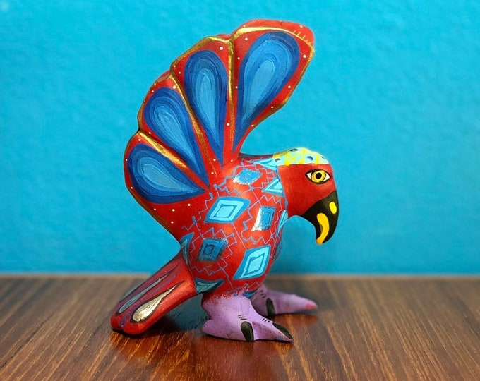Alebrije Eagle Handcrafted Wood Carving by Zeny Fuentes & Reyna Piña from Oaxaca, Mexico.