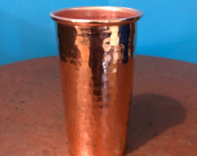 20oz Pure Hammered Copper Tumbler Water Cup