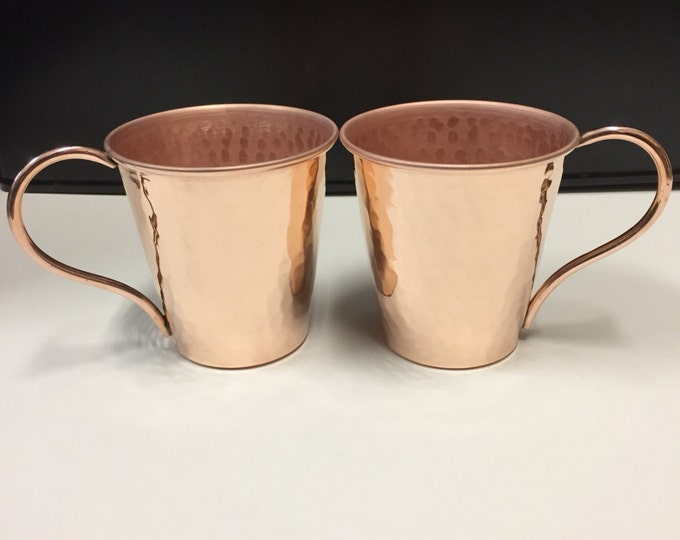 2-pack - 14oz Moscow Mule Hammered Copper Mug, tapered