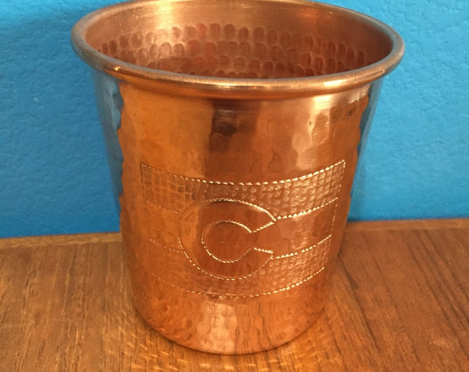 16oz Moscow Mule Hammered Copper Tumbler with Colorado flag