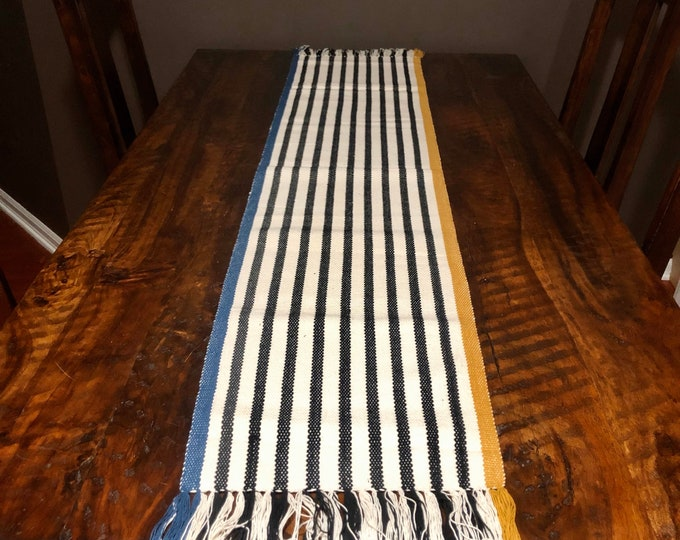 "Handwoven Zapotec cotton table runner / bed runner - approx. 72"" x 14"" (l x w)"