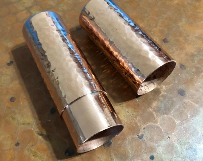 """5"""" Hammered Copper Cigar Tube"""