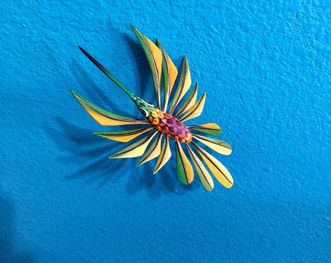 Alebrije Green Hummingbird by Zeny Fuentes & Reyna Piña from Oaxaca, Mexico