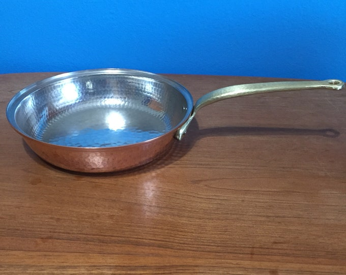 Handcrafted 10-inch Hammered Copper Saute Pan
