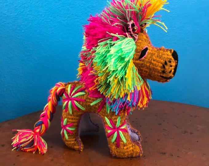 Hand Sewn Stuffed Animal Lion Plush Toy