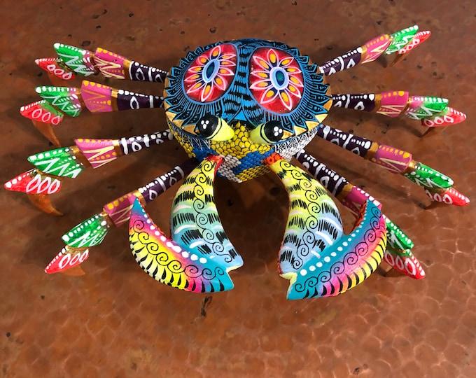 Alebrije Crab Wood Carving by Roberto and Esperanza Martinez from Oaxaca, Mexico