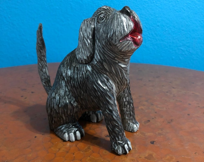 Handcrafted Alebrije Dog Woodcarving from Oaxaca, Mexico