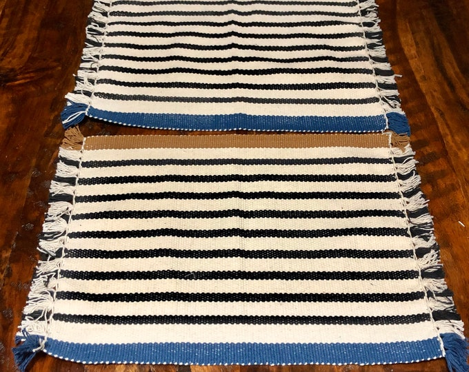 "Handwoven Zapotec cotton placemats (set of 2) - approx. 18"" x 14"" (w x h)"