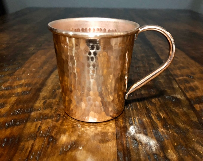 16oz Moscow Mule Hammered Copper Mug, tapered