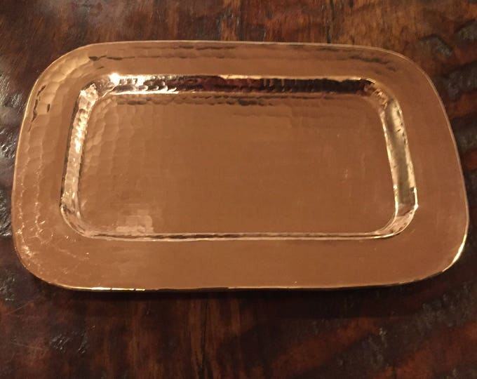 "Hammered Copper Valet Tray  - 7 1/2"" x 5"""