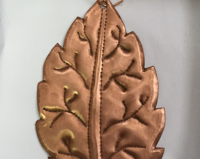 Handcrafted Pure Hammered Copper Leaf Ornament