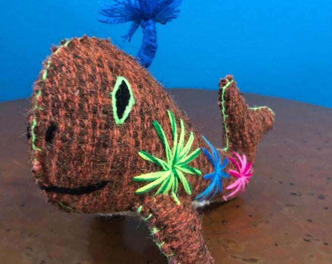 Hand Sewn Stuffed Animal Whale Plush Toy