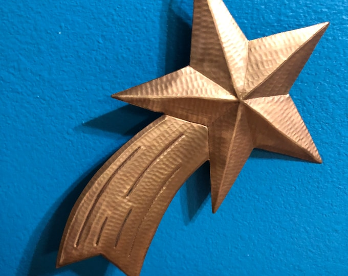 Handcrafted Pure Hammered Copper Large Shooting Star