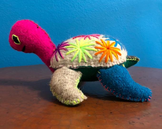 Hand Sewn Stuffed Animal Turtle Plush Toy