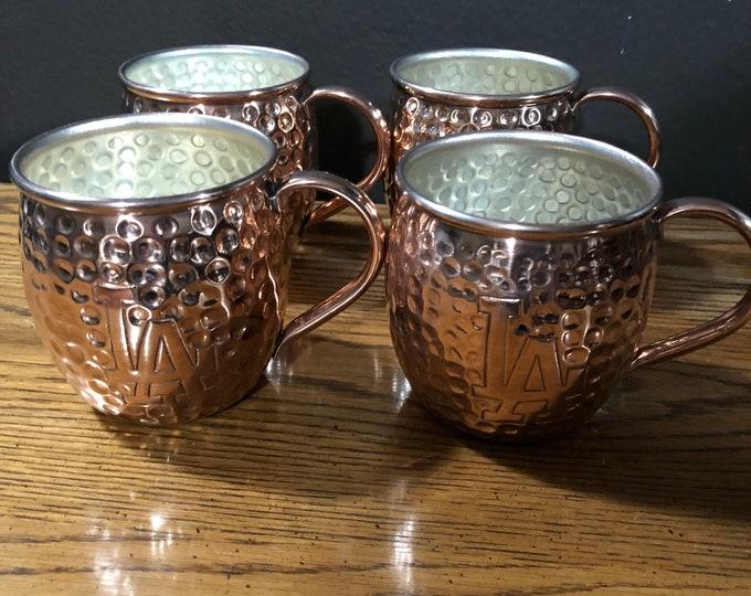 Custom engraved copper mug for Vick