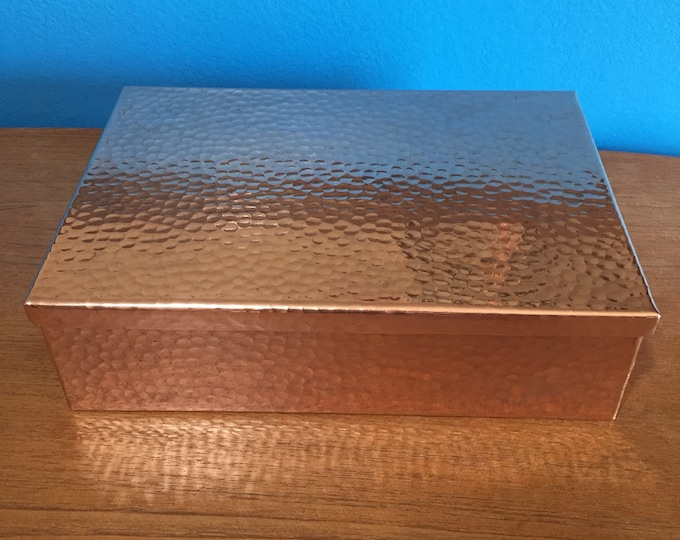 """Pure Copper Valet Box with Lid - 11"""" x 7.5 x 3"""""""