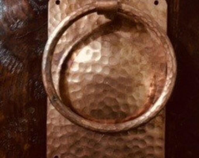 Handcrafted Hammered Copper Door Knocker