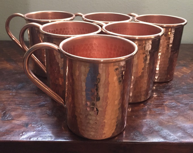 6-pack of 16oz Moscow Mule Hammered Copper Mugs