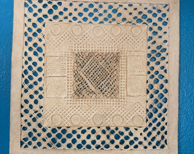 """Handmade Amate Paper Wall Art from Mexico (11 3/4"""" x 11 3/4"""")"""