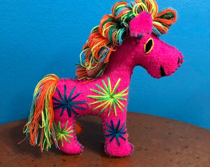 Hand Sewn Stuffed Animal Horse Plush Toy