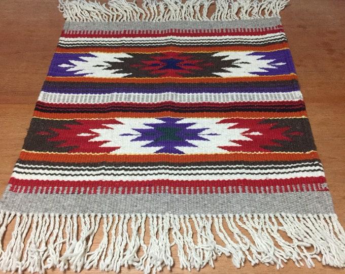 Purhépecha hand woven wool table centerpiece