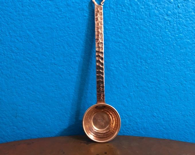 Hammered copper 1/2oz (1 tbsp.) coffee scoop measuring spoon